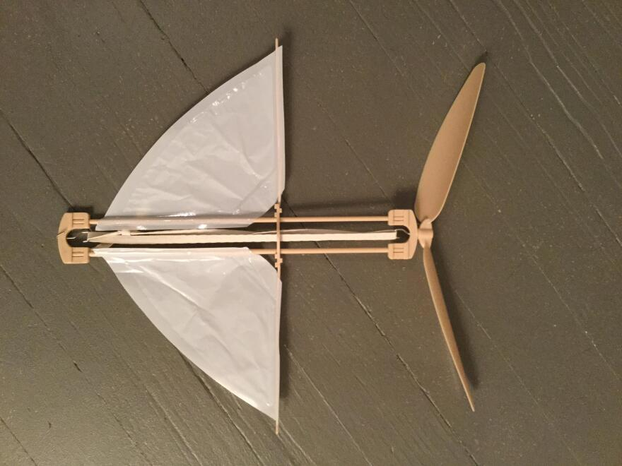 A modern replica of The Flying Bat, the toy that inspired Orville Wright