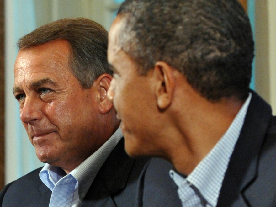 House Speaker John Boehner (R-OH) and President Obama at the White House on Sunday.