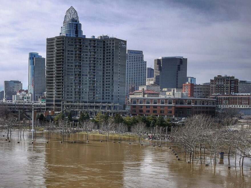 """""""Great Flood of 2015"""" picture posted on Flickr. Areas near Cincinnati were flooded for days following spring rains."""