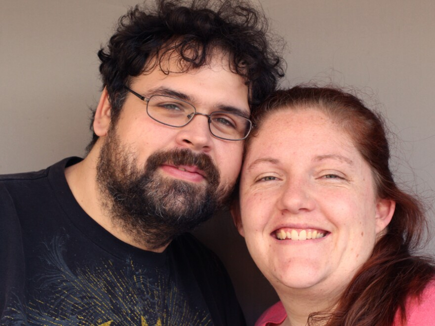 Nick Hodges and Charlotte Wheelock, on a recent visit with StoryCorps.