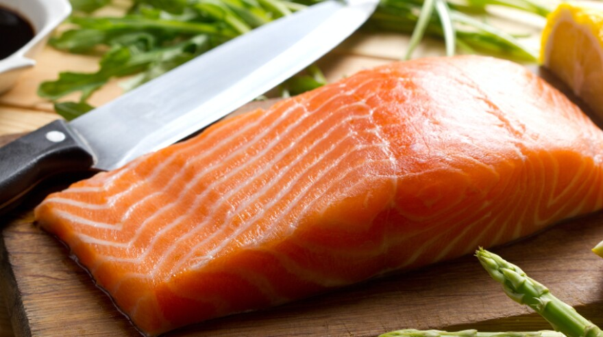 """Farmed Atlantic salmon was sometimes labeled at """"wild salmon,"""" researchers found when the tested seafood sold in New York City."""