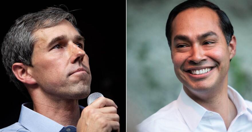 Beto O'Rourke and Julian Castro