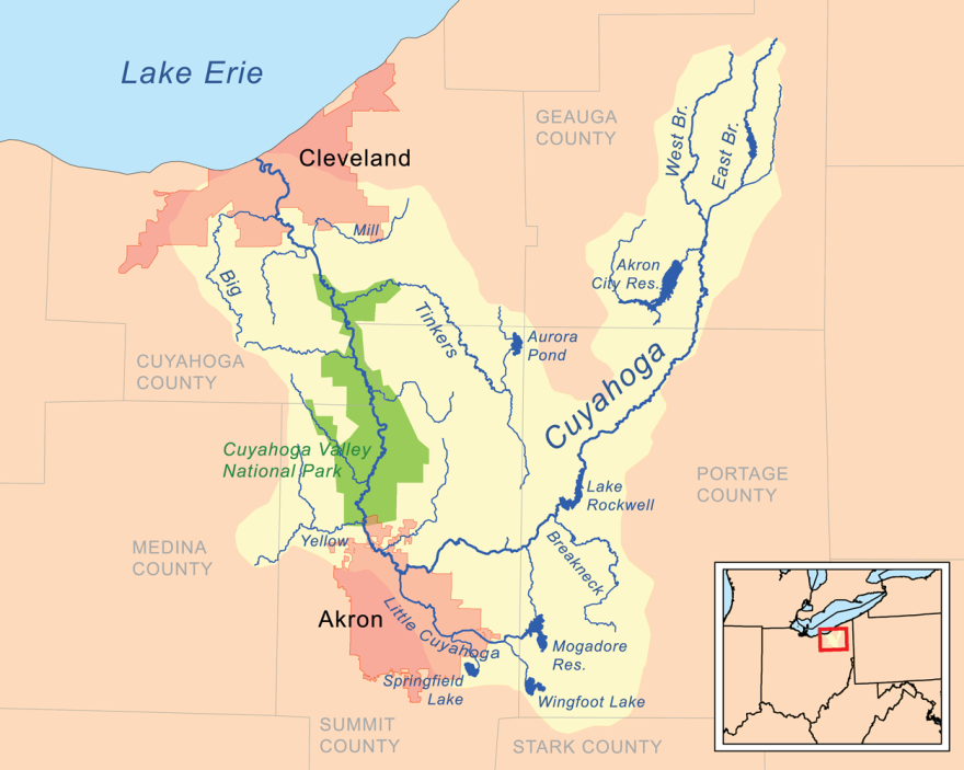 photo of Cuyahoga River and its tributaries