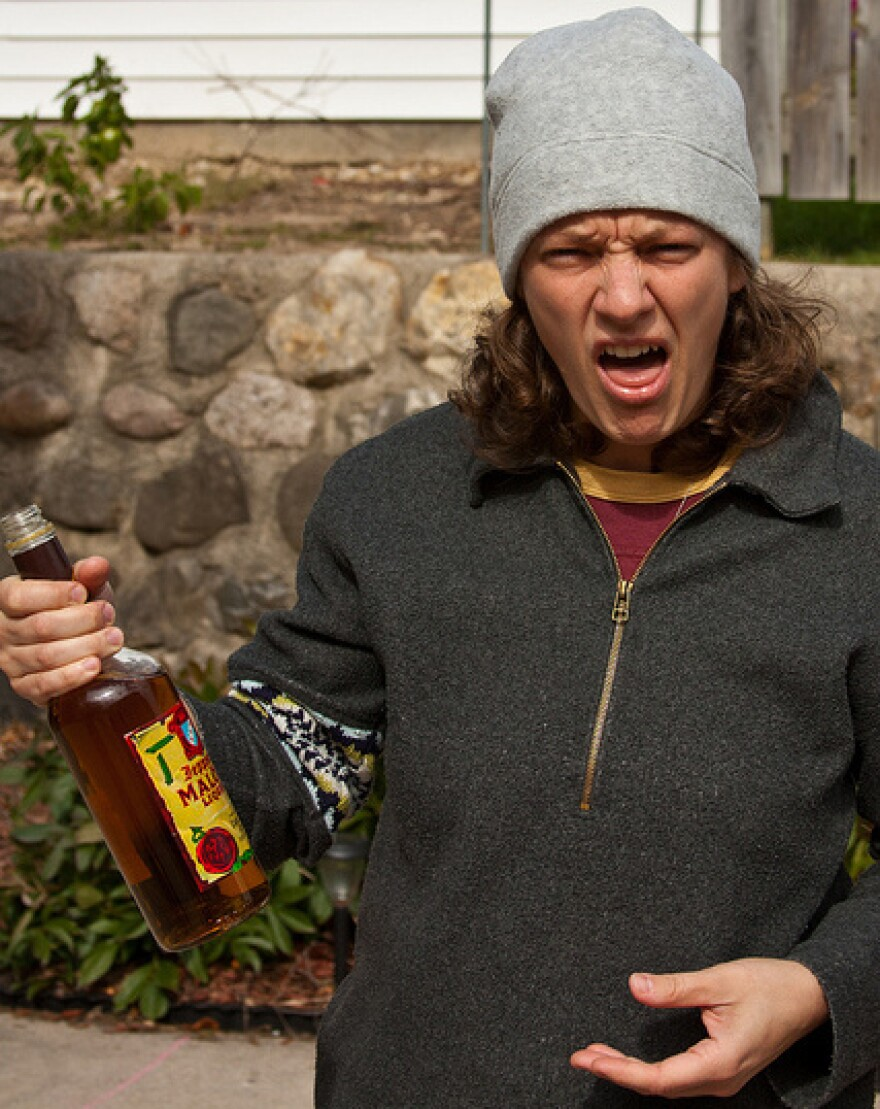 """A photo from the Flickr group <a href=""""http://www.flickr.com/groups/malortface/"""">Malort Face</a>, memorializing the facial expressions of people who try malort."""