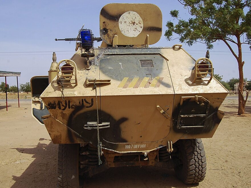 An armored vehicle used by Boko Haram militants captured by the Nigerian military in Maiduguri, Borno state, late last month. The extremist group appears to be expanding its operations into neighboring countries in an effort to establish an independent Islamic state.