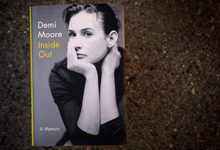 """Inside Out - A Memoir"" by Demi Moore. (Robin Lubbock/WBUR)"