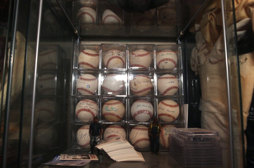 Autographed baseballs from the Negro Leagues. Oran's museum eventually sprawled out of its 16,000-square-foot space in Los Angeles and into several 40-foot shipping containers in the parking lot.