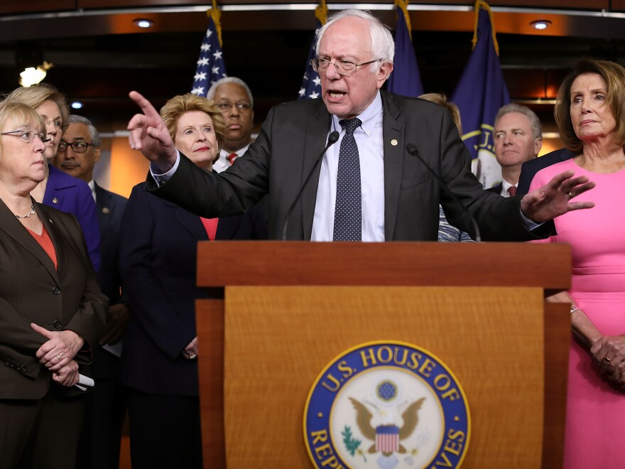 """Sen. Bernie Sanders (I-VT) told NPR, """"The goal is to rally the American people against a disastrous Republican proposal."""""""