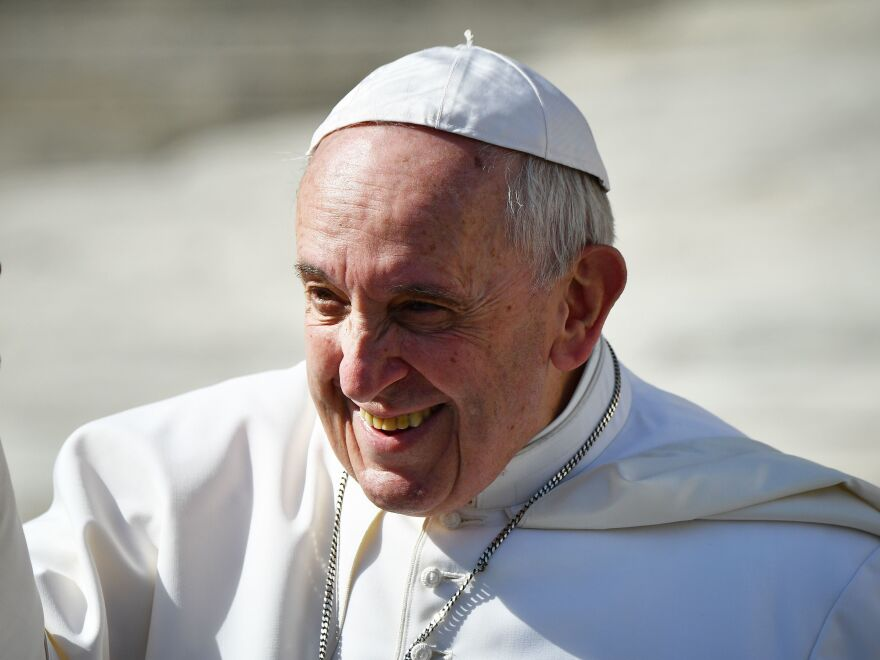 Pope Francis during his weekly general audience at Saint Peter's Square on Feb. 27.