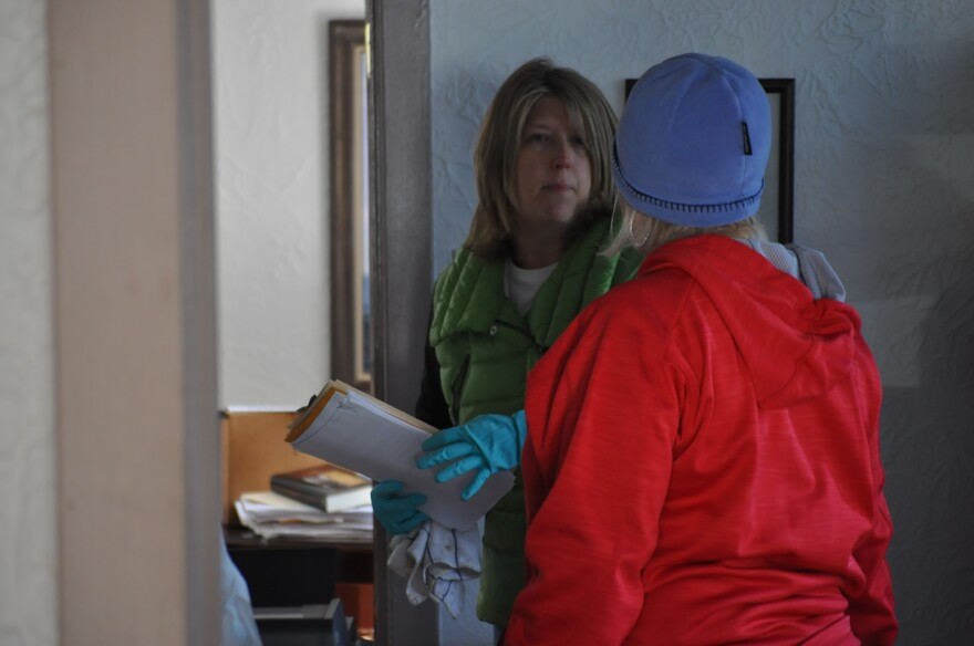 Friends and family helped clean up Mark Antonacci's Law Office in downtown Eureka on new Year's Day. The office took on about a foot of water on the first floor, and the basement flooded completely.