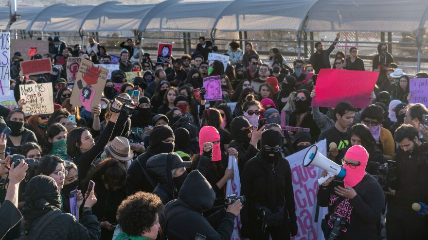 Protesters in Juárez demonstrated against femicide, the killing of women because of their gender. Hundreds of women have been brutally killed in the city in the last 30 years, with some raped, tortured and trafficked.