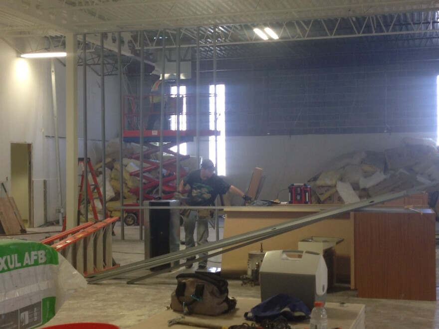 Construction of Marcelle's black box theater