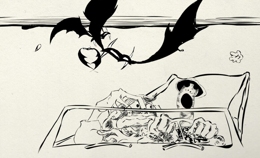 Among his many accomplishments, Ralph Steadman illustrated Hunter S. Thompson's 1971 novel, <em>Fear and Loathing in Las Vegas,</em> about a journalist's reporting trip turned hallucinogenic bender.