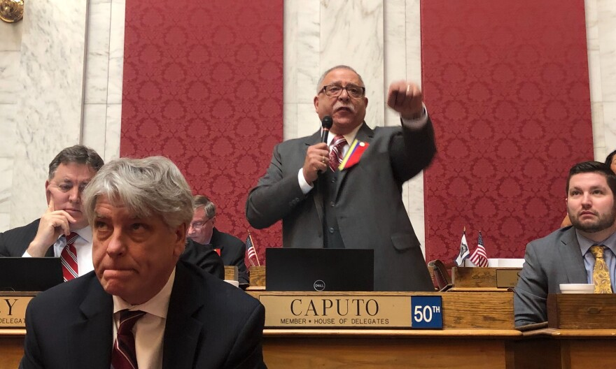 Del. Mike Caputo speaks on the House floor.