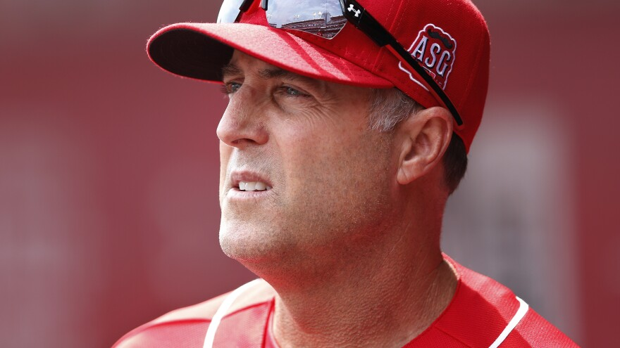 Cincinnati Reds manager Bryan Price, seen here during a home game, has apologized for the language he used in a long tirade.