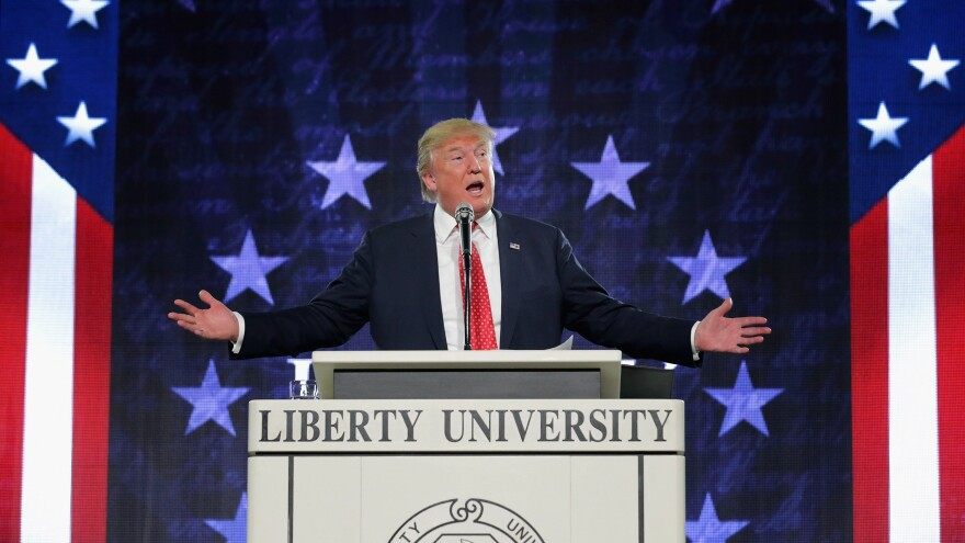 A week after Donald Trump spoke at Liberty University in Lynchburg, Va., the school's president, Jerry Falwell Jr., endorsed him for president.