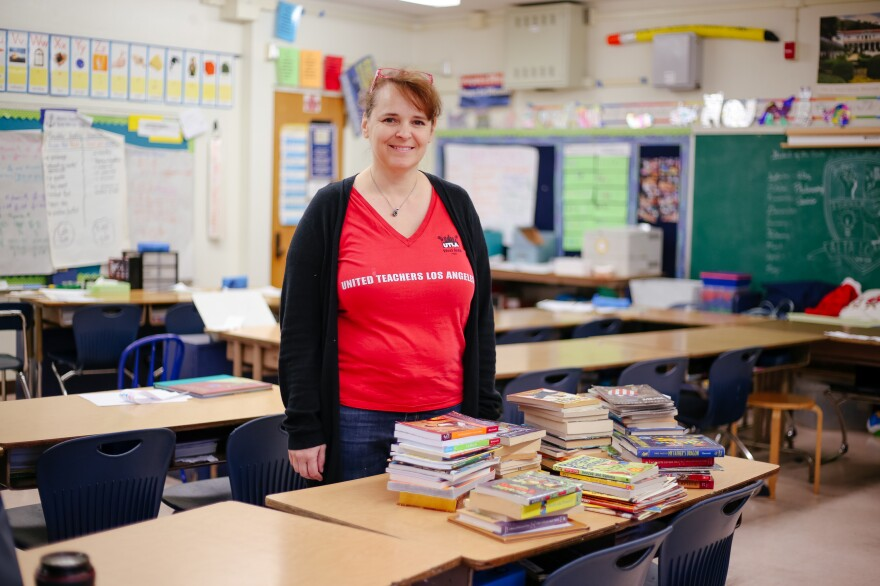 Alta Loma Elementary School teacher Jennifer Liebe-Zelazny is ready to strike if there's no deal come Monday, but she knows it will come at a cost to her fourth-grade students.