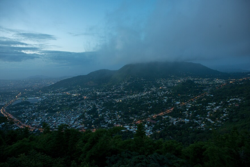 View of San Salvador, the capital of El Salvador, where the murder rate in August 2015 was about 30 deaths a day.