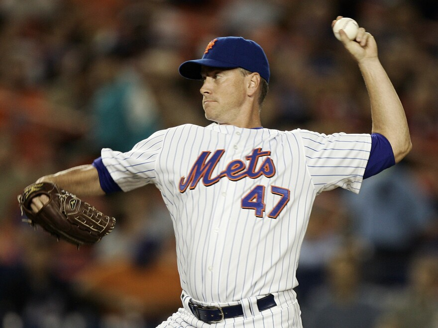 New York Mets pitcher Tom Glavine during a 2007 game against the Philadelphia Phillies at Shea Stadium in New York.