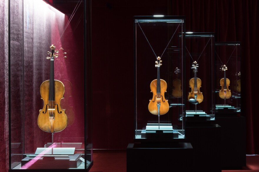"The Violin Museum's most prized instruments are kept in a room known as the ""Treasure Box."""