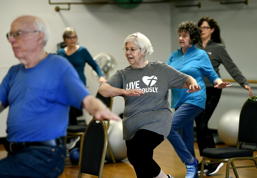 Seniors take part in an exercise class at the Missoula Family YMCA in this file photo from 2019.