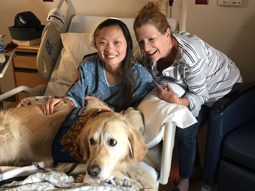 Elle Gargano, left, with her mother, Katie Gargano, at Spring Valley Hospital in Las Vegas.