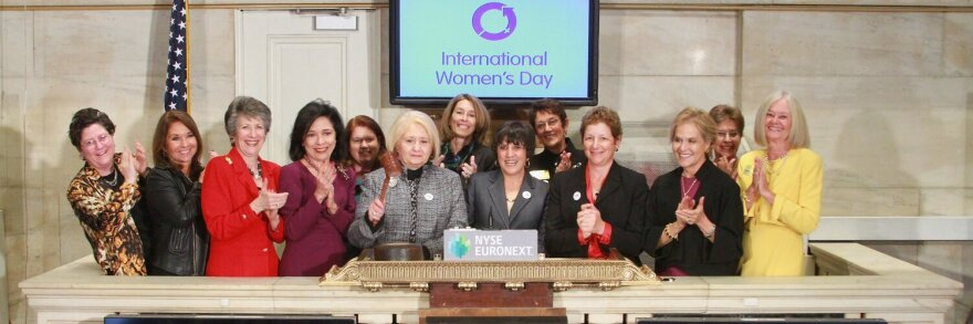 Female business leaders from 2020 Women on Boards at the NY Stock Exchange. Photo Credit: 2020 Women on Boards