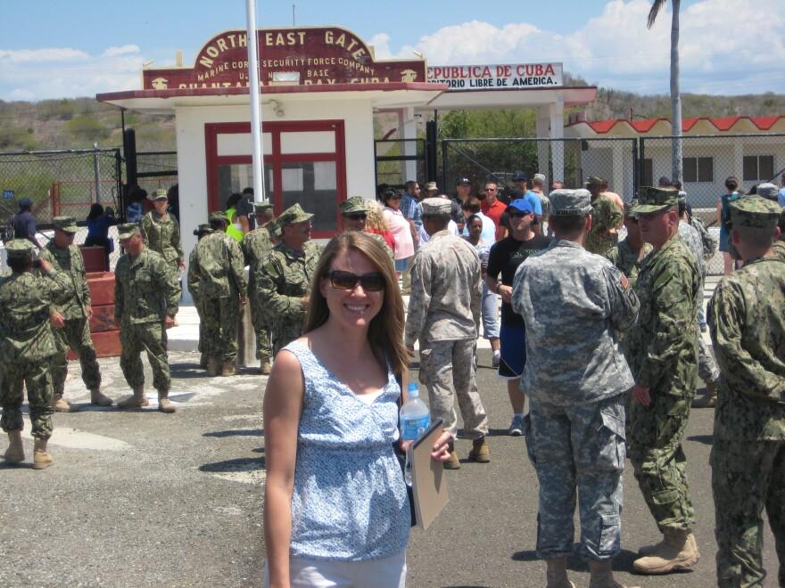 UM law professor Christina Frohock at Guantanamo.