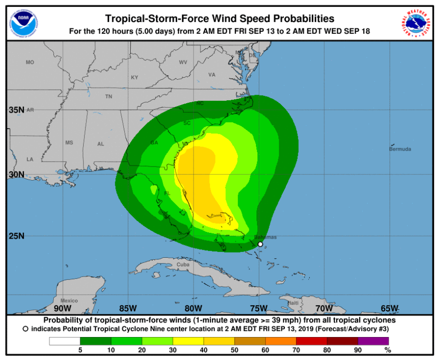 Tropical wind speed probabilities