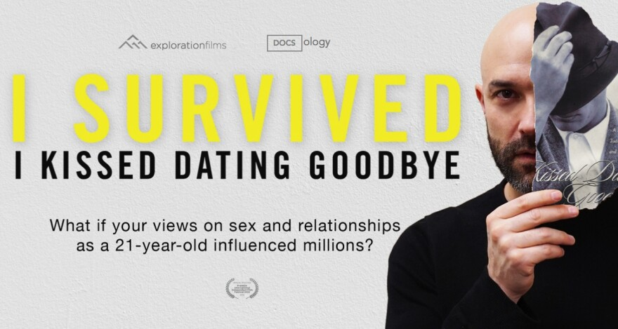 Promotional poster for the new documentary, <em>I Survived I Kissed Dating Goodbye</em>.