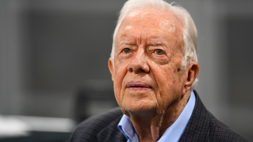 """Former President Jimmy Carter has devoted much of his post-presidential life to observing elections overseas. He is asking GOP gubernatorial candidate Brian Kemp to step down from his position as Georgia secretary of state """"to ensure the confidence of our citizens."""""""
