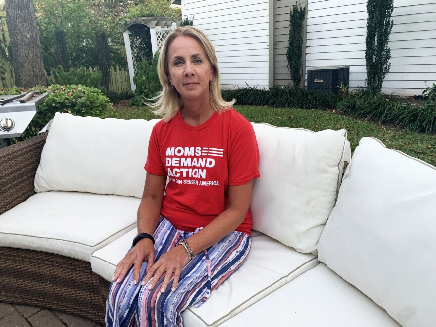 "Karen Havekost, a retired city worker, was able to flee Municipal Building 2 during the mass shooting on May 31. She's featured in a TV ad for Democrat Missy Cotter Smasal, and advocates for gun law reform in Virginia. ""This is the perfect time to say we have a problem. We can change it."""