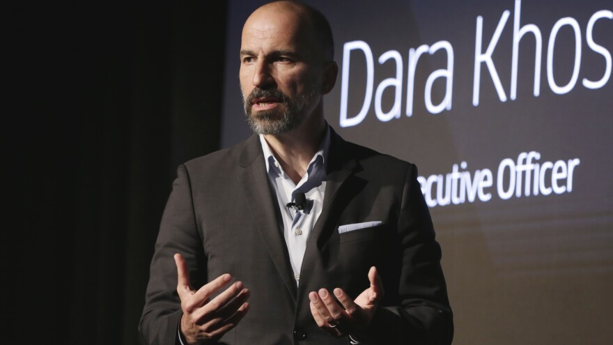 Uber announced its settlement with 50 U.S. states and the District of Columbia, paying a penalty and promising to make its data security more robust. Here, Uber  CEO Dara Khosrowshahi is seen at an event in New York earlier this month.