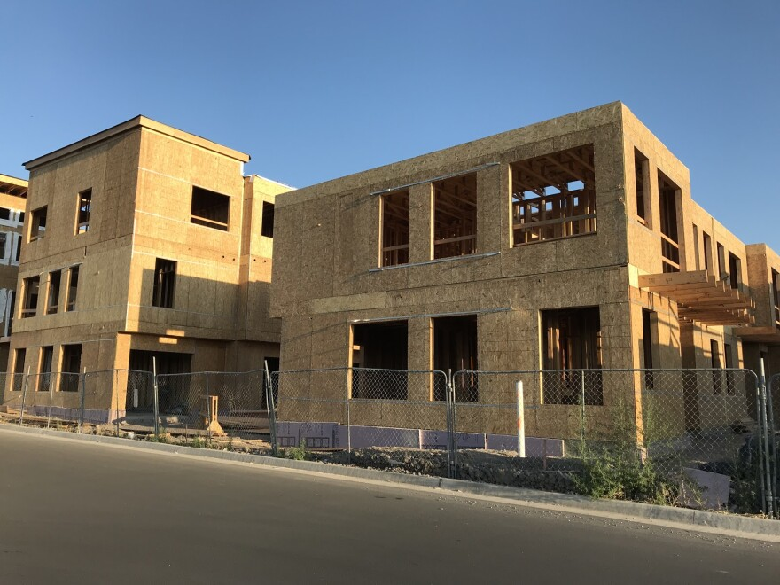 Photo of new construction.