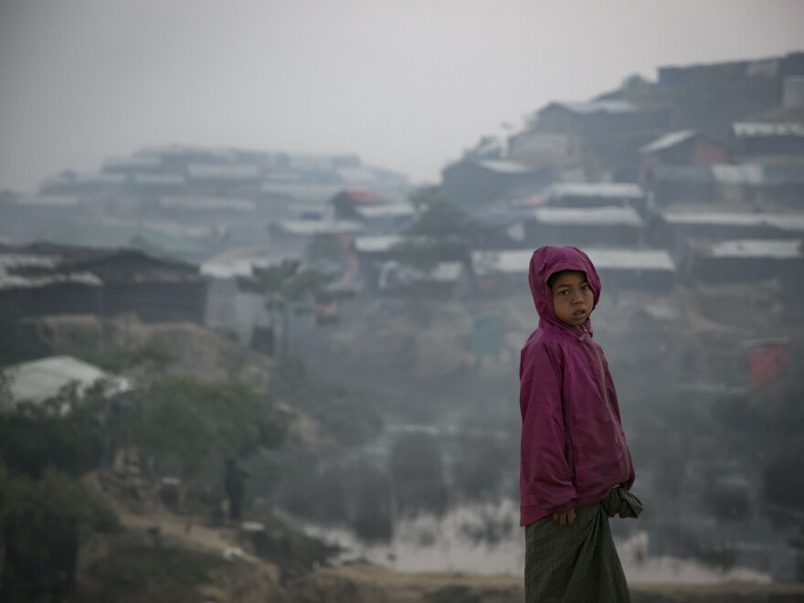 A Rohingya refugee stands in a displaced-persons camp in Cox's Bazar, Bangladesh, earlier this month. She is just one of more than 650,000 Rohingya who have fled over the border from Myanmar, where a government crackdown has spawned stories of brutal murder, rape and villages destroyed.