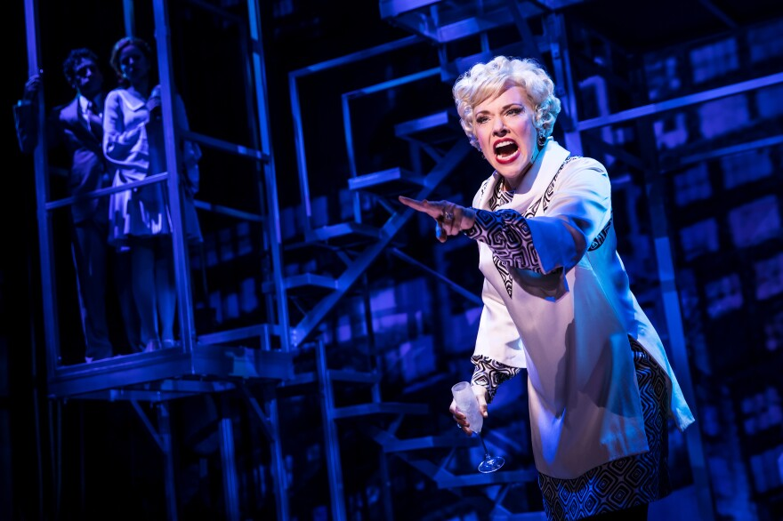 """Emily Skinner performs """"The Ladies Who Lunch"""" from <em>Company, </em>featured <em></em>in <em>Prince of Broadway, </em>a musical celebration of Hal Prince's career. The show is directed by Prince, with a script by David Thompson, music supervision by Jason Robert Brown and co-direction and choreography by Susan Stroman."""