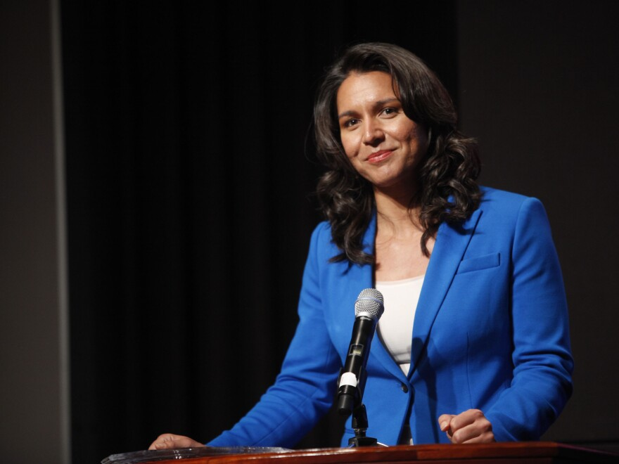 Rep. Tulsi Gabbard attends the 33rd Annual Women's Campaign Fund Parties of Your Choice Gala on April 22, 2013, in New York City.