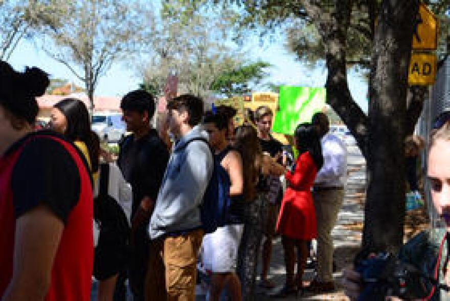 At the South Broward High School gun control protest, students claimed political division is not helping