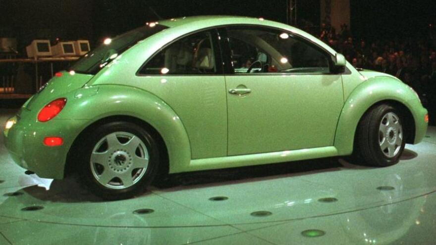 A circa 2005 VW Beetle.