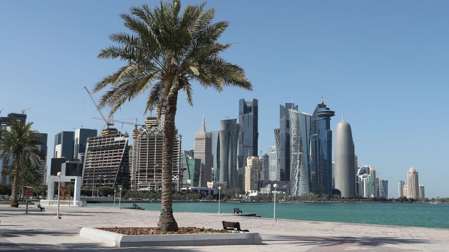 Saudi Arabia and Egypt are leading a group of Arab nations that are cutting ties with Qatar. Here, Doha's corniche is seen on Monday.