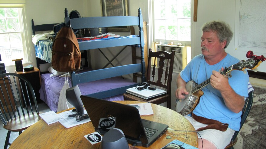 Tom Richter moved to Strawbery Banke so that he could concentrate on creating a new album of folk songs based on imagery of historic Portsmouth, N.H.