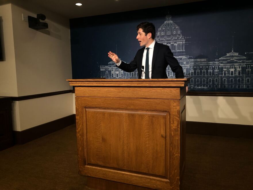 "Minneapolis Mayor Jacob Frey, shown here in February, decried the man's death, saying, ""All I can come back to is that he should not have died. What we saw was horrible and completely and utterly messed up."""