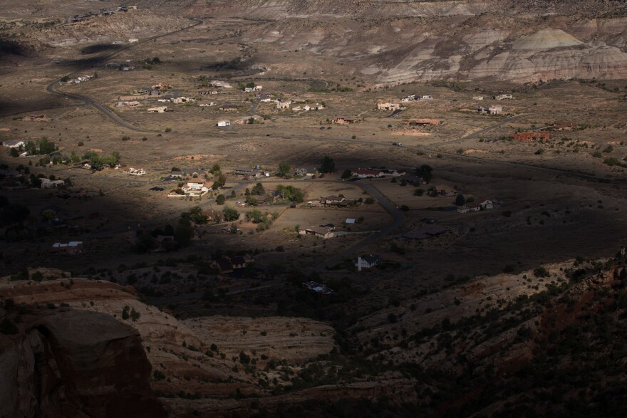 Houses in Grand Junction, Colo., are shadowed by the mesas of the nearby Colorado National Monument. After seven teen suicides occurred in Grand Junction during the 2016-2017 school year, students demanded change.
