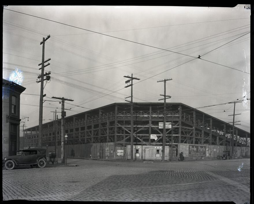 This image is believed to be the only know image of the old Stars Park that stood in St. Louis in the 1920s.