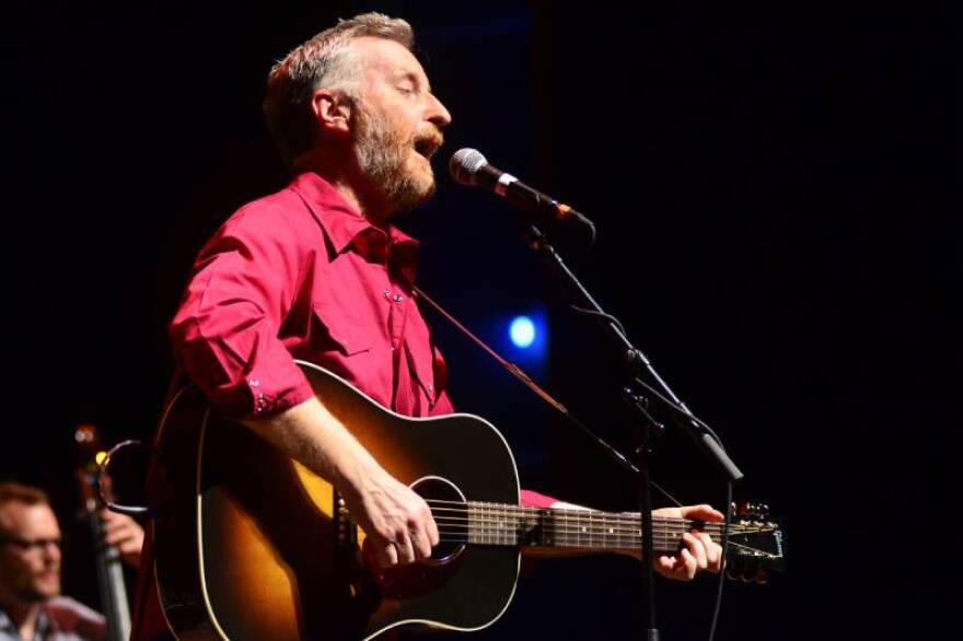 Billy Bragg performing on Mountain Stage 2013