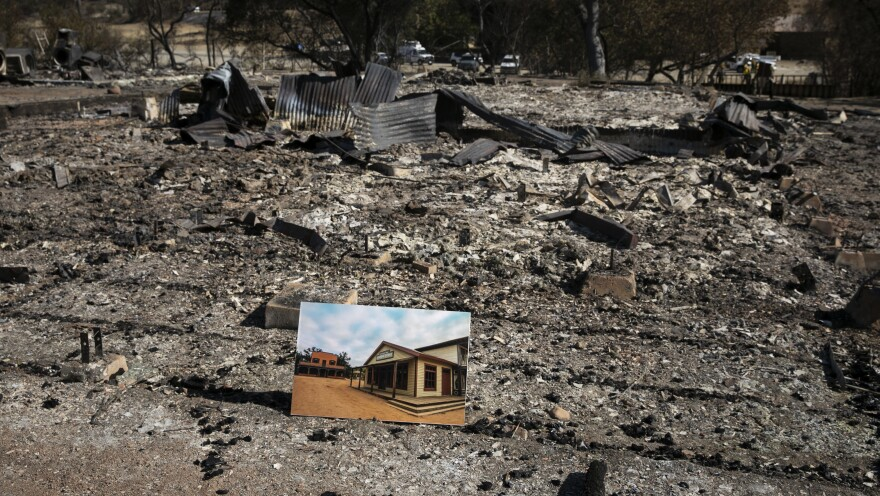 The Paramount Ranch, a national landmark, burned to the ground during the Woolsey Fire. Last week a photograph of the former property sat among its ashes.