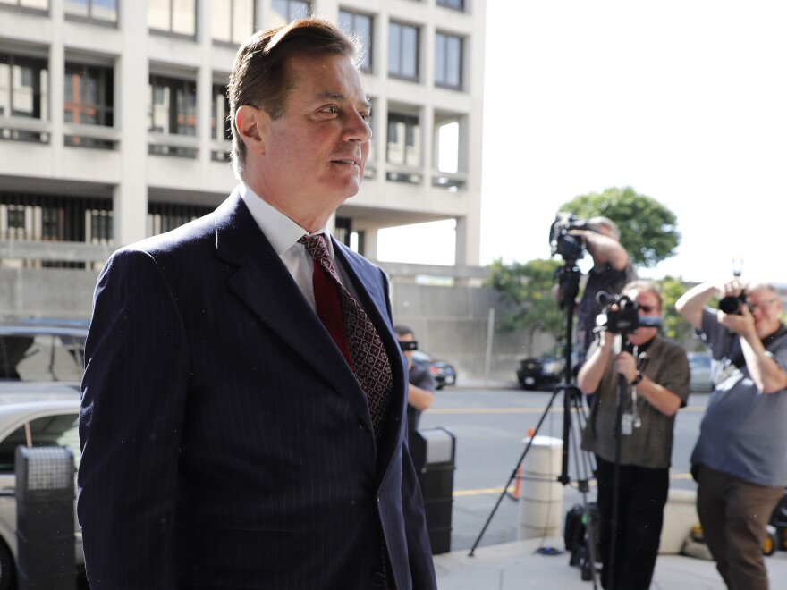 Paul Manafort, former campaign manager for Donald Trump, arrives at federal court in Washington, D.C., in June.