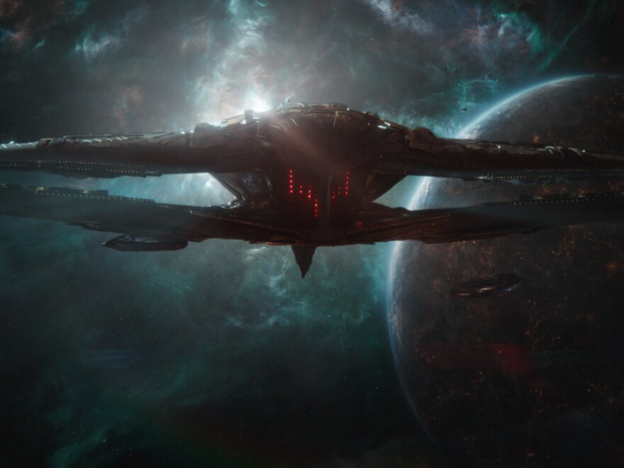 Thanos' spaceship looms in <em>Avengers: Endgame</em>, only the latest blockbuster to break banks and burst bladders, with a run time of 3 hours, 2 minutes.