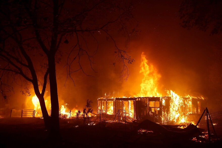 Fueled by high winds and low humidity, the Camp Fire moved through Paradise last November.