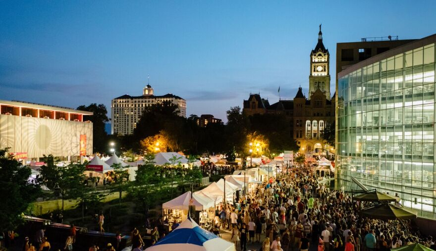 Photo of downtown Salt Lake City during a past year's arts festival